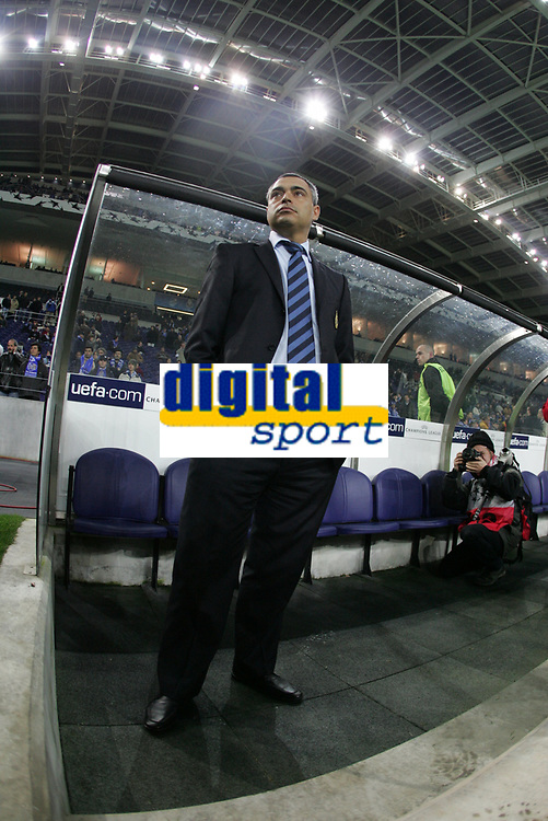 "PORTUGAL - PORTO 23 FEBRUARY 2005: JOSE COUCEIRO, FC Porto coach, First Knock-out Round First Leg of the UEFA Champions League, match FC Porto (#) vs FC Internazionale (#), held in ""Dragao"" stadium  23/02/2005  19:25:30<br />