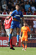 AFC Wimbledon defender Will Nightingale (5) clears the danger during the EFL Sky Bet League 1 match between Fleetwood Town and AFC Wimbledon at the Highbury Stadium, Fleetwood, England on 4 August 2018. Picture by Craig Galloway.