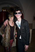 ELIZA CUMMINGS; ASH STYMEST, Chaos Point: Vivienne Westwood Gold Label Collection performance art catwalk show and auction in aid of the NSPCC. Banqueting House. London. 18 November 2008<br /> *** Local Caption *** -DO NOT ARCHIVE -Copyright Photograph by Dafydd Jones. 248 Clapham Rd. London SW9 0PZ. Tel 0207 820 0771. www.dafjones.com