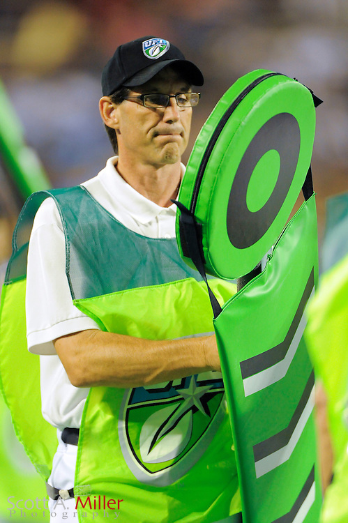 Sep 30, 2010; Orlando, FL, USA; Sideline chain crew during the Las Vegas Locomotives 20-17 win over the Florida Tuskers at the Citrus Bowl. ..©2010 Scott A. Miller