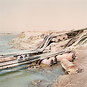 The water pumping system for the irrigation of the fields around the Yamuna river.