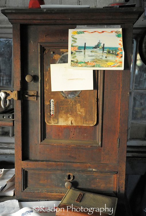 Antique chest with old post card attached