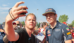 02.07.2016, Red Bull Ring, Spielberg, AUT, FIA, Formel 1, Roter Teppich, im Bild Max Verstappen (NED) Red Bull Racing // Dutch Formula One driver Max Verstappen of Red Bull Racing during the red carpet of at the Red Bull Ring in Spielberg, Austria, 2016/07/02, EXPA Pictures © 2016, PhotoCredit: EXPA/ Dominik Angerer