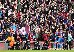 Crystal Palace celebrate Connor Wickham's goal - Mandatory by-line: Robbie Stephenson/JMP - 24/04/2016 - FOOTBALL - Wembley Stadium - London, England - Crystal Palace v Watford - The Emirates FA Cup Semi-Final