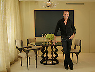Colin Cowie, a South African lifestyle guru, television personality, author, interior designer and party planner, at his South Beach home.