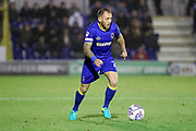 AFC Wimbledon defender Barry Fuller (2) dribbling during the EFL Sky Bet League 1 match between AFC Wimbledon and Gillingham at the Cherry Red Records Stadium, Kingston, England on 12 September 2017. Photo by Matthew Redman.