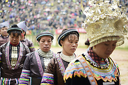 April 26, 2018 - Congjiang, Congjiang, China - Congjiang, CHINA-26th April 2018: Miao people celebrate traditional Lusheng Festival in Congjiang, southwest China's Guizhou Province. (Credit Image: © SIPA Asia via ZUMA Wire)