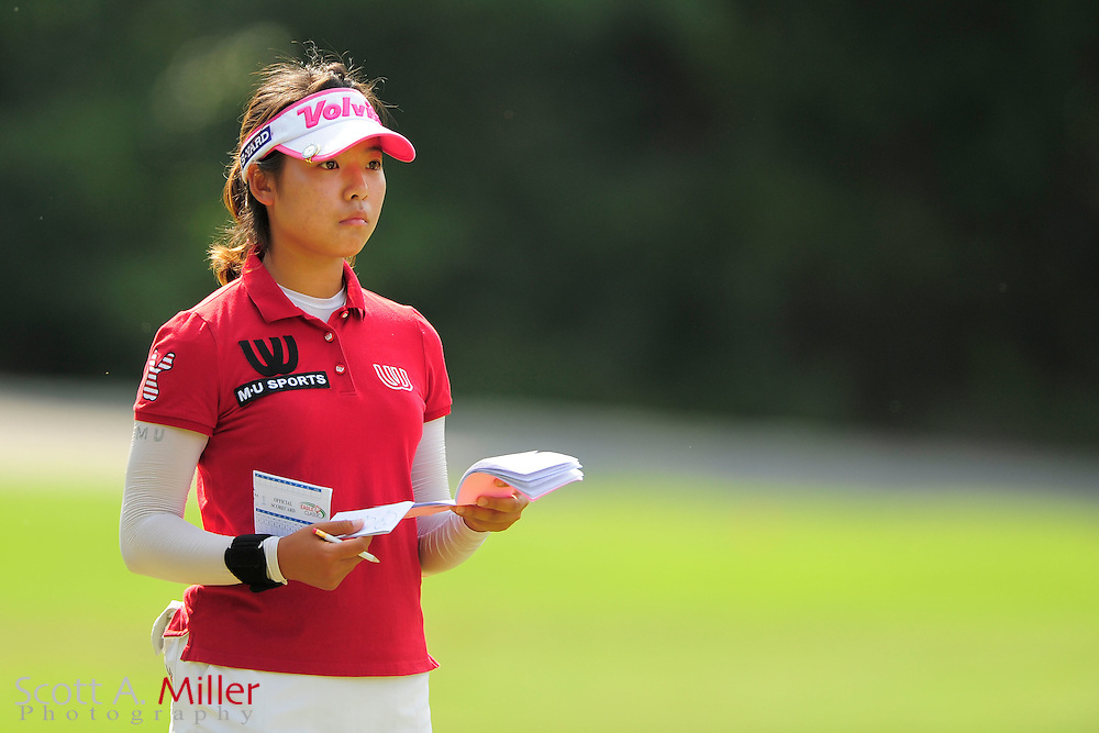 Mi Hyang Lee during the Symetra Tour's Eagle Classic at the Richmond Country Club on August 18, 2012 in Richmond, Va...©2012 Scott A. Miller.