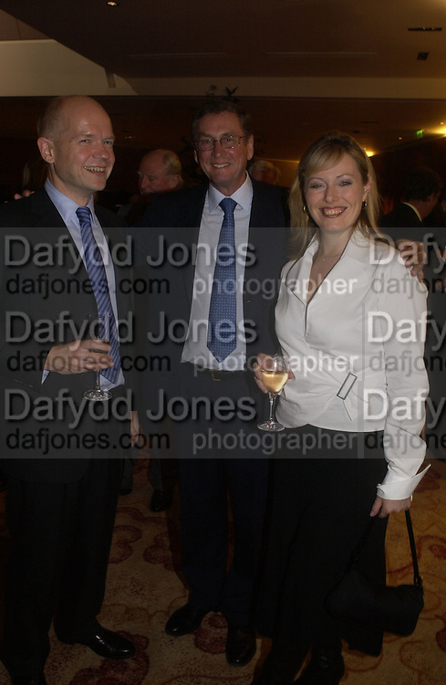 William Hague, Lord Ashcroft and Ffion Hague. 'Dirty politics, Dirty times: My fight with Wapping and New Labour' by Michael Ashcroft. Book launch party in aid of Crimestoppers. Riverbank Plaza Hotel. London SE1.      October 10 2005. ONE TIME USE ONLY - DO NOT ARCHIVE © Copyright Photograph by Dafydd Jones 66 Stockwell Park Rd. London SW9 0DA Tel 020 7733 0108 www.dafjones.com