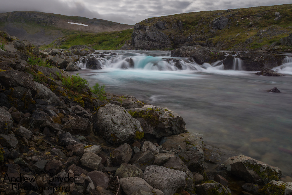 A long exposure of a small falls - Katmai, Alaska