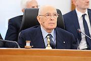 2013/05/08 Roma, plenum del Consiglio Superiore della Magistratura. Nella foto Giorgio Napolitano..Rome, Plenum of the Superior Council of Magistracy. In the picture Giorgio Napolitano - © PIERPAOLO SCAVUZZO
