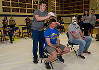"""Pie A Teacher"" fundraiser for Pathway at LRGH with Gilford High School.  ©2019 Karen Bobotas Photographer"