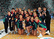 Vixens Team celebrate Championship win <br /> Netball -  2009 ANZ Championship Grand Final<br /> Melbourne Vixens vs Adelaide Thunderbirds<br /> Hisense Arena, Melbourne<br /> Sunday, 26 July 2009<br /> © Sport the library / Jeff Crow
