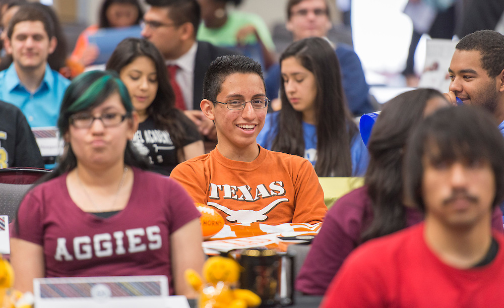 Lee High School student Ronald Ramon enjoys the Academic Signing Day activities at the Region 4 Education Center, May 23, 2014.