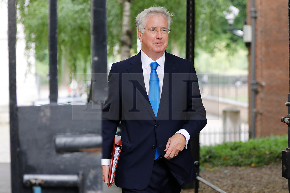 © Licensed to London News Pictures. 18/07/2017. Defence Secretary MICHAEL FALLON attends a cabinet meeting in Downing Street, London on Tuesday, 18 July 2017 London, UK. Photo credit: Tolga Akmen/LNP