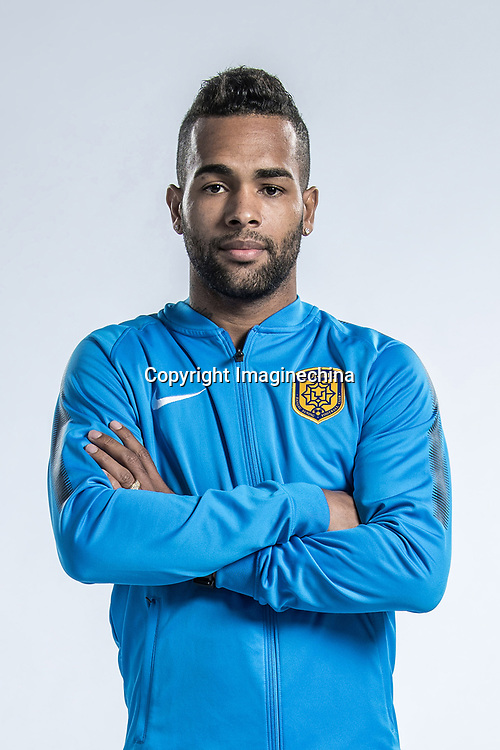 **EXCLUSIVE**Portrait of Brazilian soccer player Alex Teixeira of Jiangsu Suning F.C. for the 2018 Chinese Football Association Super League, in Nanjing city, east China's Jiangsu province, 23 February 2018.