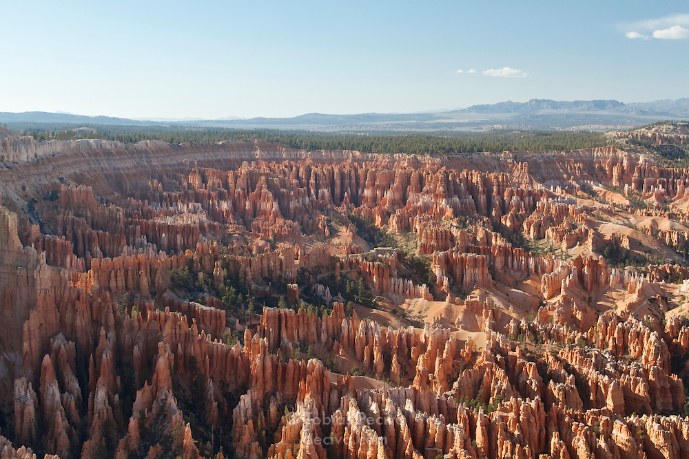 View over Bryce Amphitheater from Bryce Point, in Bryce Canyon National Park, Utah.