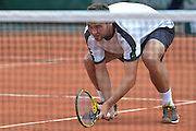 Tomasz Bednarek from Poland competes in men's doubles first round while Day Fourth during Roland Garros 2014 at Roland Garros Tennis Club in Paris, France.<br /> <br /> France, Paris, May 28, 2014<br /> <br /> Picture also available in RAW (NEF) or TIFF format on special request.<br /> <br /> For editorial use only. Any commercial or promotional use requires permission.<br /> <br /> Mandatory credit:<br /> Photo by &copy; Adam Nurkiewicz / Mediasport