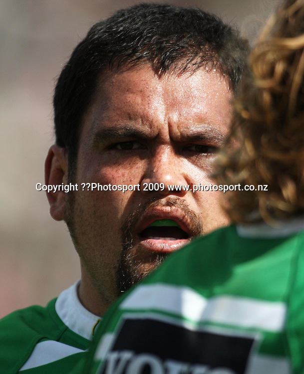 Manawatu prop David Te Moana.<br /> Air NZ Cup rugby - Manawatu Turbos v North Harbour at FMG Stadium, Palmerston North, New Zealand. Saturday, 24 October 2009. Photo: Dave Lintott/PHOTOSPORT