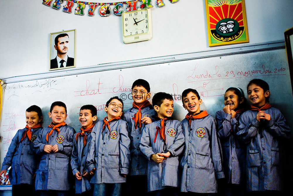"Portraits of the sons and daughters of the main ""generals"" of Assad's government in Aleppo. They study in Christian schools which are considered among the best ones in the country"