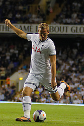 29.08.2013, White Hart Lane, London, ENG, UEFA CL Qualifikation, Tottenham Hotspur vs FC Dinamo Tiflis, Rueckspiel, im Bild Tottenham's Harry Kane during the UEFA Europa League Qualifier second leg match between Tottenham Hotspur and FC Dinamo Tiflis Zuerich at the White Hart Lane in London, England on 2013/08/29 . EXPA Pictures © 2013, PhotoCredit: EXPA/ Mitchell Gunn <br /> <br /> ***** ATTENTION - OUT OF GBR *****