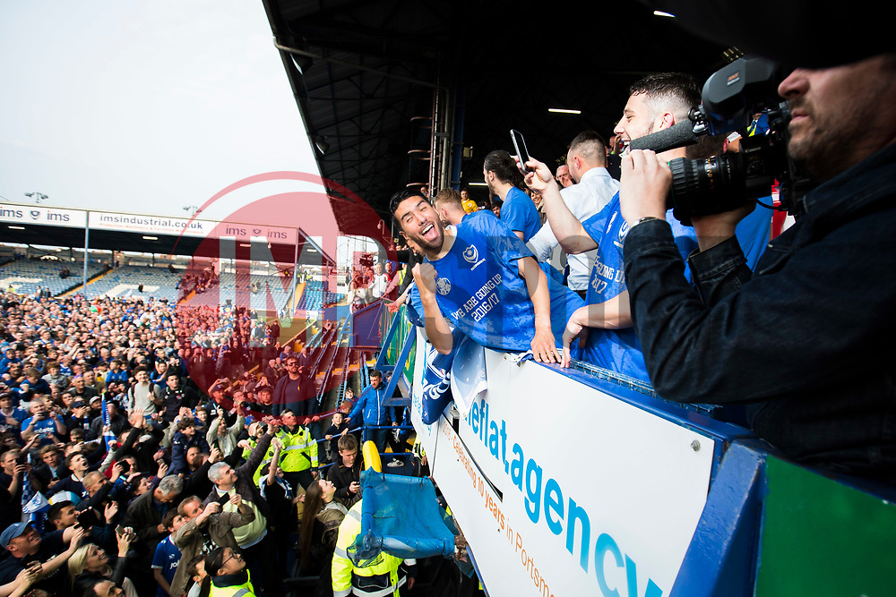 Portsmouth win 6-1 against Cheltenham Town, finishing top of League Two, Portsmouth celebrate - Mandatory by-line: Jason Brown/JMP - 06/05/2017 - FOOTBALL - Fratton Park - Portsmouth, England - Portsmouth v Cheltenham Town - Sky Bet League Two