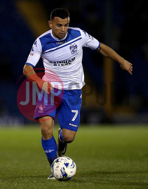Zeli Ismail of Bury runs with the ball - Mandatory by-line: Robbie Stephenson/JMP - 24/10/2016 - FOOTBALL - Gigg Lane - Bury, England - Bury v Bolton Wanderers - Sky Bet League One