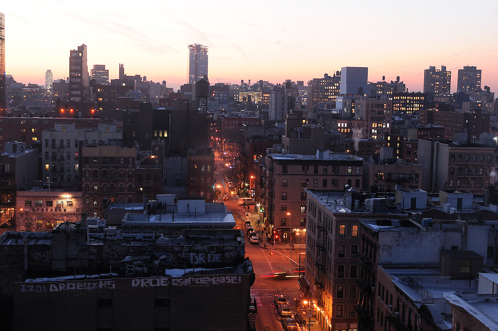 View from the Hotel on Rivington,107 Rivington Street, Lower East Side, Manhattan, New York, New York, USA
