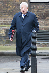 Downing Street, London, January 17th 2017. Chancellor of the Duchy of Lancaster Patrick McLoughlin arrives at the weekly cabinet meeting at 10 Downing Street.