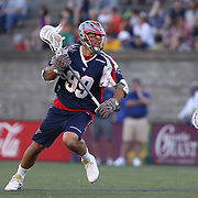 Paul Rabil #99 of the Boston Cannons controls the ball during the game at Harvard Stadium on May 17, 2014 in Boston, Massachuttes. (Photo by Elan Kawesch)