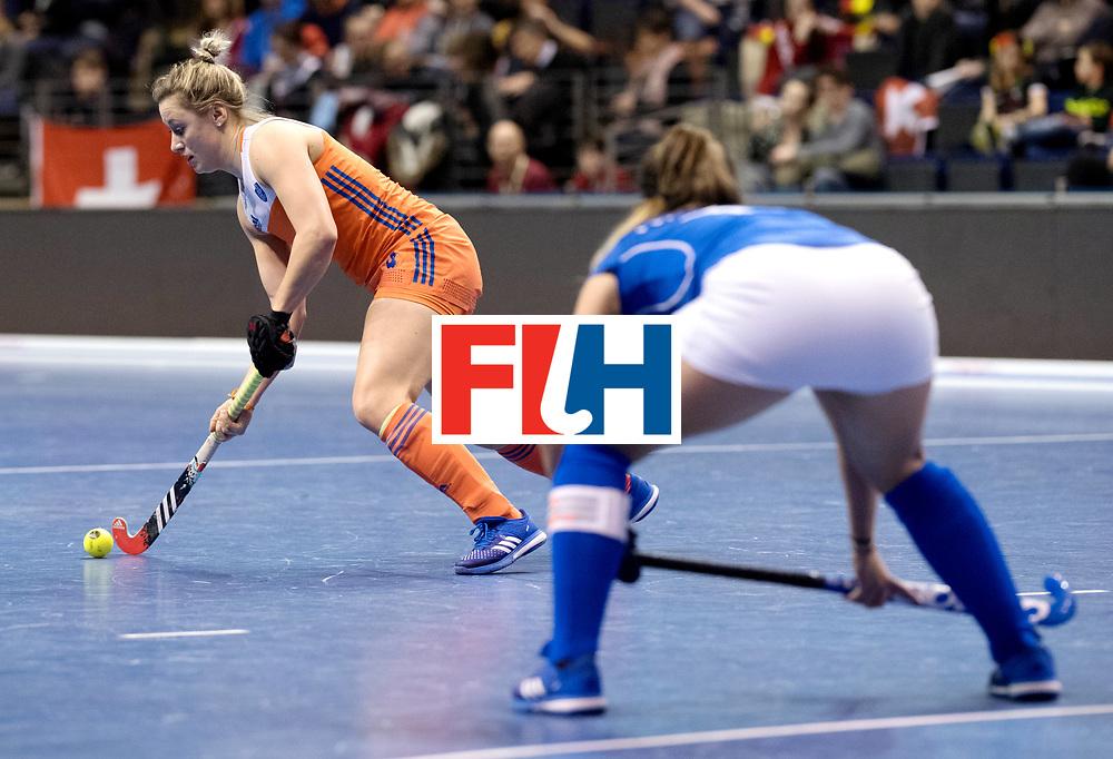 BERLIN - Indoor Hockey World Cup<br /> Quarterfinal 4: Netherlands - Czech Republic<br /> foto: Lieke van Wijk.<br /> WORLDSPORTPICS COPYRIGHT FRANK UIJLENBROEK