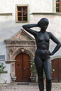 Renaissance-Schloss, Brunnenfigur, Dornburger Schlösser, Dornburg, Thüringen, Deutschland | Old Castle, fountain figure, Dornburg castles, Dornburg, Thuringia, Germany