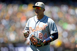 OAKLAND, CA - MAY 26:  Miguel Cabrera #24 of the Detroit Tigers holds a baseball during the fifth inning against the Oakland Athletics at O.co Coliseum on May 26, 2014 in Oakland, California. The Oakland Athletics defeated the Detroit Tigers 10-0.  (Photo by Jason O. Watson/Getty Images) *** Local Caption *** Miguel Cabrera