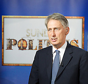 Conservative Party Conference, ICC, Birmingham, Great Britain <br /> Day 1<br /> 7th October 2012 <br /> <br /> <br /> Philip Hammond MP <br /> Defence Secretary <br /> Sunday Politics interview <br /> <br /> <br /> <br /> Photograph by Elliott Franks<br /> <br /> Tel 07802 537 220 <br /> elliott@elliottfranks.com<br /> <br /> ©2012 Elliott Franks<br /> Agency space rates apply