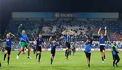 September 14, 2017 - Reggio Emilia, Italy - Atalanta players celebrating the victory during the UEFA Europa League group E match between Atalanta and Everton FC at Stadio Citta del Tricolore on September 14, 2017 in Reggio nell'Emilia, Italy. (Credit Image: © Matteo Ciambelli/NurPhoto via ZUMA Press)
