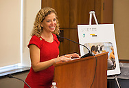 Cancer survivor Rep. Debbie Wasserman Schultz (Florida-23), speaks during the LIVESTRONG Foundation congressional briefing on helping cancer survivors reclaim health and wellness after treatment through exercise programs like LIVESTRONG at the YMCA at Rayburn House Office Building in Washington, DC, on Thursday, September 15, 2016. (Alan Lessig/)