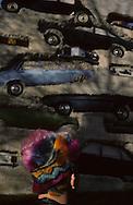 In front of Arman tower in Jouy en Josas  Paris  France    coiffure sculpture du coiffeur plasticien Jean Philippe Pages . la tour Arman  ‡ Jouy en Josas  Paris  France  R00008/    L0006364  /  P101625