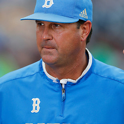 Jun 24, 2013; Omaha, NE, USA; UCLA Bruins head coach John Savage (22) looks on before game 1 of the College World Series finals against the Mississippi State Bulldogs at TD Ameritrade Park. Mandatory Credit: Derick E. Hingle-USA TODAY Sports