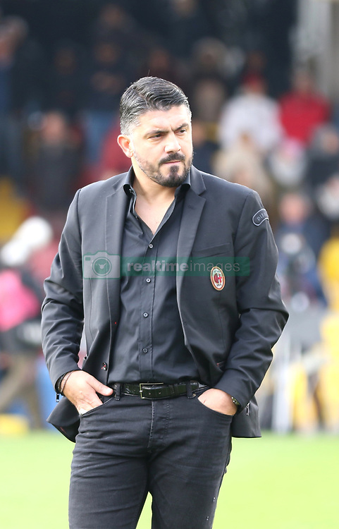 December 3, 2017 - Benevento, Campania/Napoli, Italy - Benevento, Italy. December 3, 2017: .The new coach of Mlan Gennaro Gattuso. The Benevento after 14 losses manages to equalize and make the first point in Serie A (Credit Image: © Fabio Sasso/Pacific Press via ZUMA Wire)