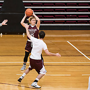 December 16, 2016 - New York, NY : Hannah Missry, a senior guard for the Fordham University Women's Basketball Team (25) practices with the team in Rose Hill Gymnasium on Friday. CREDIT: Karsten Moran for The New York Times