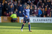 Benjamin Garuccio (#17) of Heart of Midlothian leaves the field after he is shown a red card during the Ladbrokes Scottish Premiership match between Motherwell FC and Heart of Midlothian FC at Fir Park, Stadium, Motherwell, Scotland on 17 February 2019.