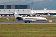 TAG Aviation (UK) Ltd Bombardier Global Express-BD-700-1A10 (G-XXRS) ready for takeoff