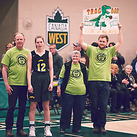 Family of 5th year forward, Christina McCusker (12) of the Regina Cougars during the Women's Basketball Home Game on Sat Feb 02 at Centre for Kinesiology,Health and Sport. Credit: Arthur Ward/Arthur Images