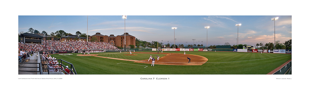Carolina defeats Clemson in final rivalry game at Sarge Frye Field in April, 2008.