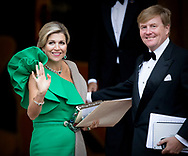 King Willem-Alexander and Queen Maxima of The Netherlands arrive at Palace Noordeinde of the gala diner for the Council of State in The Hague, The Netherlands, 13 September 2017. COPYRIGHT ROBIN UTREHT