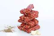 a stack of Raw Kebab