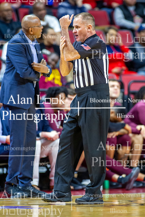 NORMAL, IL - November 10:  Kelly Self during a college basketball game between the ISU Redbirds and the Little Rock Trojans on November 10 2019 at Redbird Arena in Normal, IL. (Photo by Alan Look)