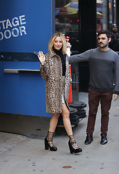 Ashley Tisdale is seen leaving Good Morning America. . 12 Nov 2018 Pictured: Ashley Tisdale . Photo credit: Joe Russo / MEGA TheMegaAgency.com +1 888 505 6342
