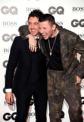 Professor Green (right) and Miles Kane (left) attending the GQ Men of the Year Awards 2018 at the Tate Modern, London. Picture credit should read: Doug Peters/Empics
