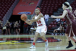 01 November 2017: Zakiya Beckles during a Exhibition College Women's Basketball game between Illinois State University Redbirds the Red Devils of Eureka College at Redbird Arena in Normal Illinois.